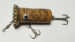 How To Make Topwater Lure From Wine Cork(4)DIY Fishing Hacks - Cách Làm Lure Nút Chai