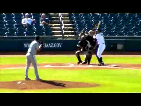 Andre Rienzo  strikes out a batter on a breaking ball in the dirt