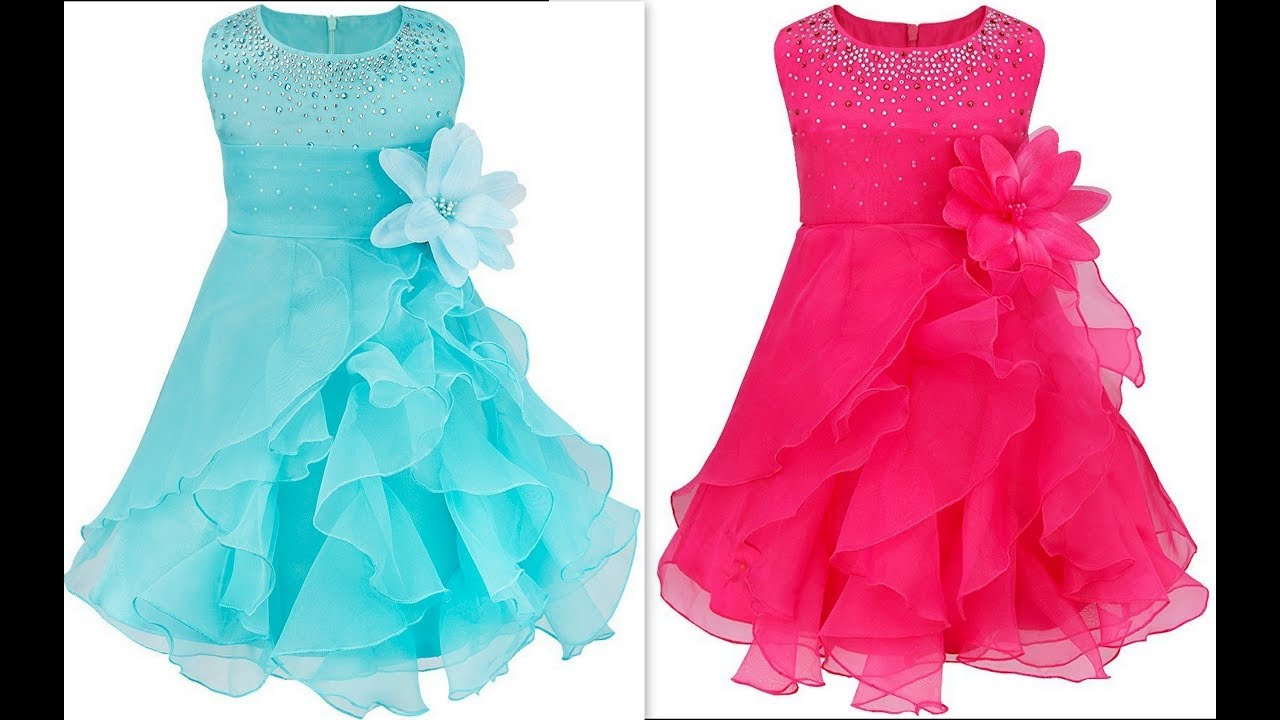 How to make quinceanera ruffled organza dress with rhinstones & Hand ...