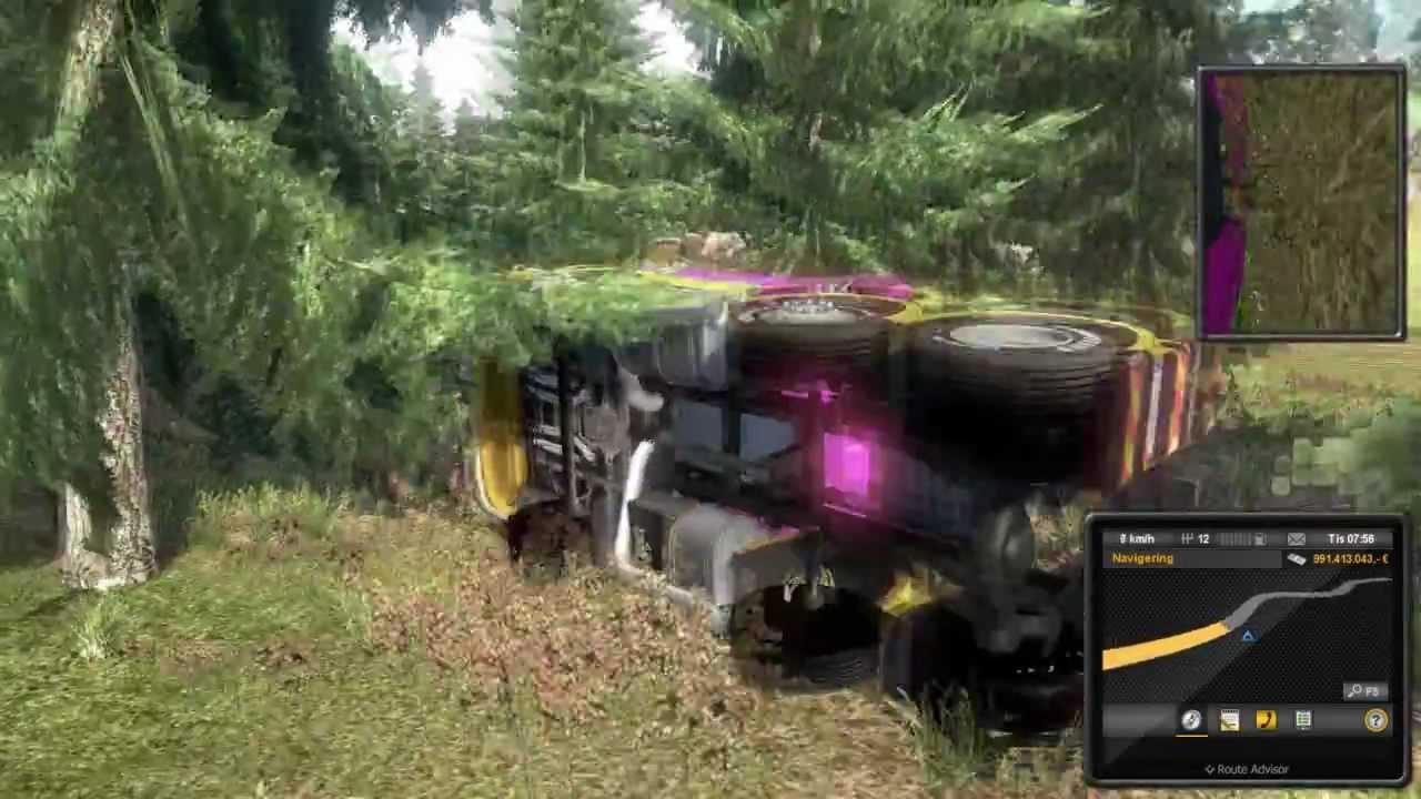 euro truck simulator 2 260 km h mega crash 3. Black Bedroom Furniture Sets. Home Design Ideas