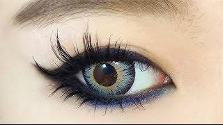 How To : Colored Cat-Liner Eye Makeup