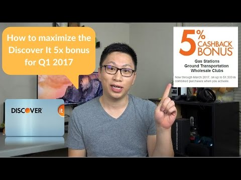 Maximize Discover It 5% (10% Year 1) Cash Back for Q1 2017