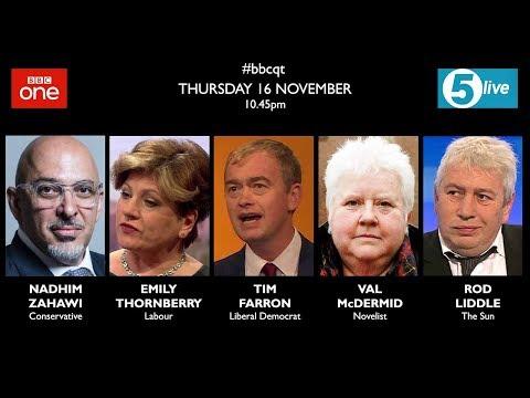 Question Time 16/11/17: minimum alcohol pricing, no deal Brexit, gender fluidity,, Labour borrowing