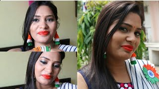 Independence day Special Makeup & Accessories|Easy look|#Indiantricolormakeup #Independenceday