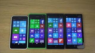 Nokia Lumia 930 vs. 830 vs. 735 vs. 635 - Which Is Faster? (4K)
