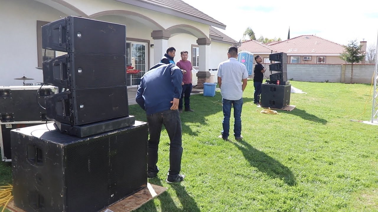 Using RCF Line Array system