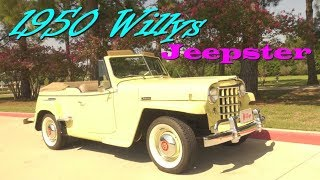 1950 Willys Jeepster classic suv road test review