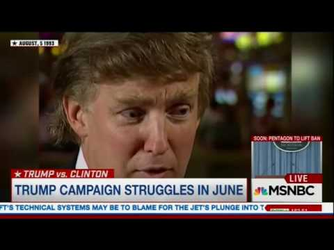 MSNBC Live  Donald Trump back in 1993 talking about Native Americans