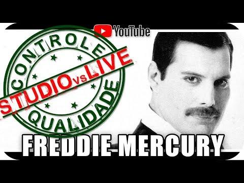 FREDDIE MERCURY - Studio Vs Live CONTROLE DE QUALIDADE - Marcio Guerra Reagindo React Reação Rock