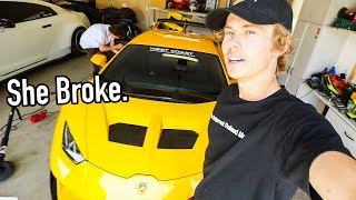 First Problem With The 1000HP Lamborghini!