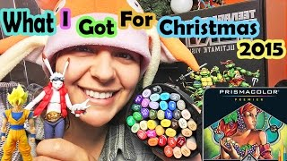 WHAT I GOT FOR CHRISTMAS 2015 + BIRTHDAY! art supplies and toys