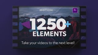 Motion Pro All-In-One Premiere Kit ▶▷ Premiere Pro Trends ◁◀