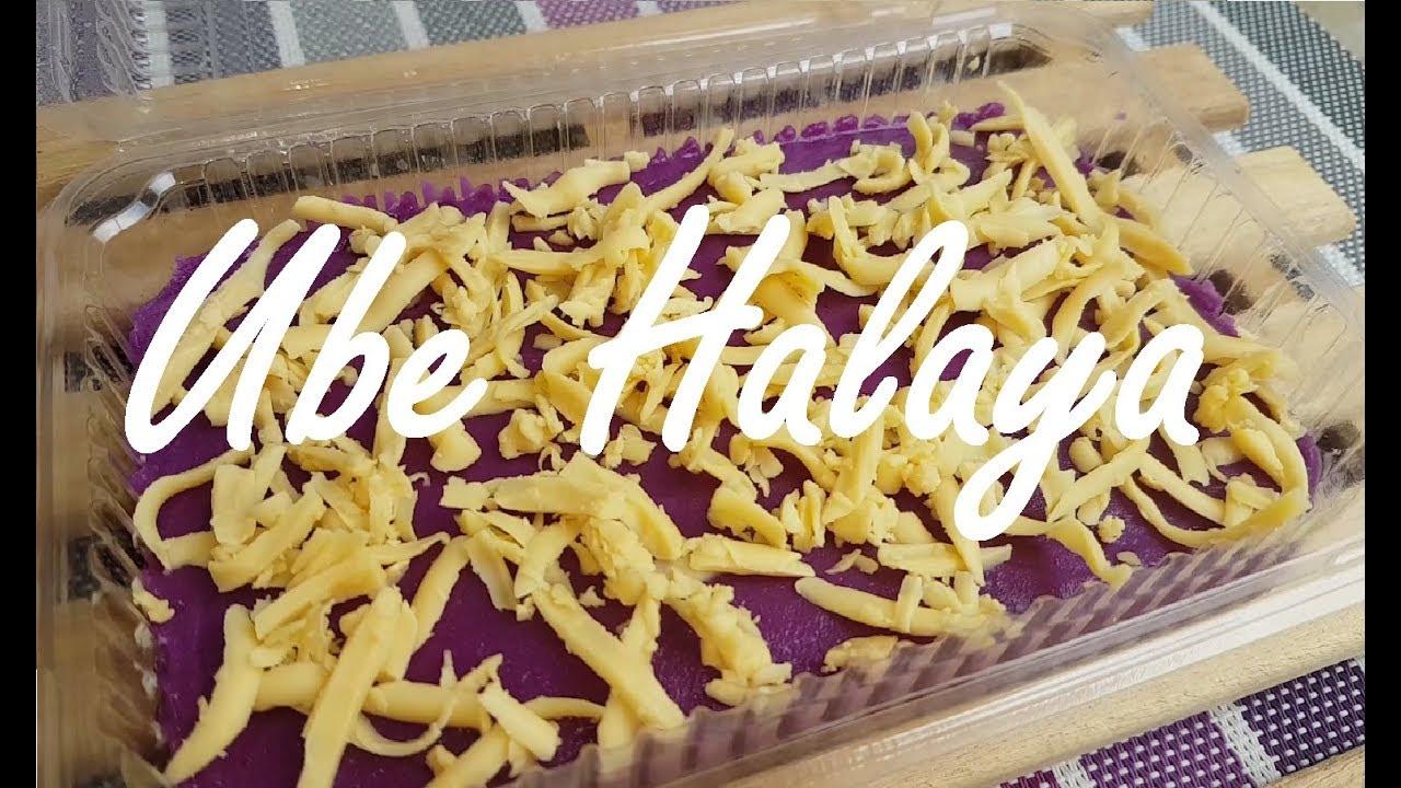 how to eat ube halaya