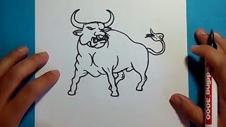 Como dibujar un toro paso a paso 2 | How to draw a bull 2