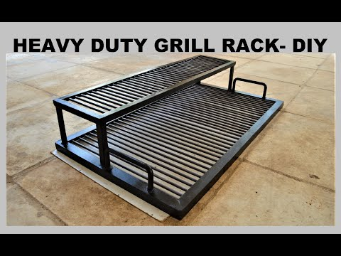 HEAVY DUTY BBQ GRILL RACK - DIY