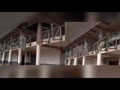 Estadio Nacional: bus fuera de control causó daños a laureles deportivos | 90 Matinal