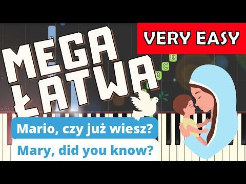 🎹 Mario, czy już wiesz (Mary did you know) - Piano Tutorial (MEGA ŁATWA wersja) (VERY EASY) 🎹