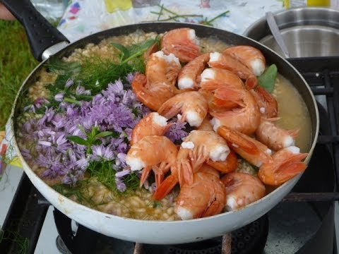 Prawn Risotto Recipe - Live Demo In The Rain