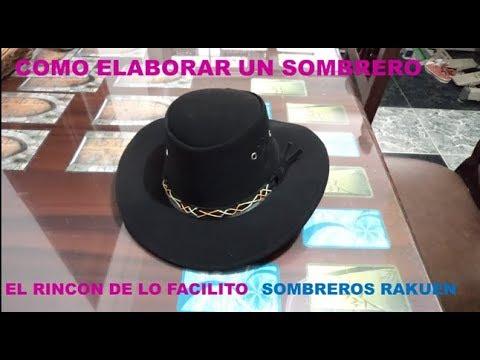COMO SE HACE EL SOMBRERO VAQUERO - YouTube c3c9a75bbab