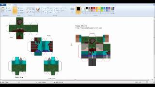 how to make mini minecraft papercraft charater