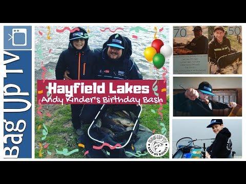Hayfield Lakes | Andy Kinder's Birthday Bash | Live Fishing Match | BagUpTV