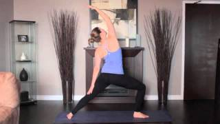 1 Minute Yoga Pose Reverse Warrior Pose Right