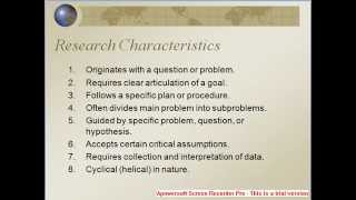 research concepts full presentation on these topics research basics methodology