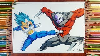Drawing Vegeta vs Jiren - Dragon ball super episode 122