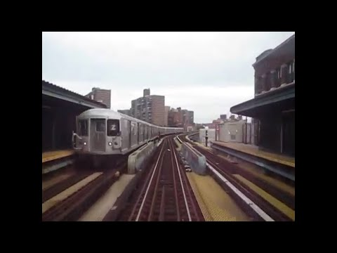 BMT Nassau St/Jamaica line: Full ride on R32 (J) Train from Broad St to Jamaica Center