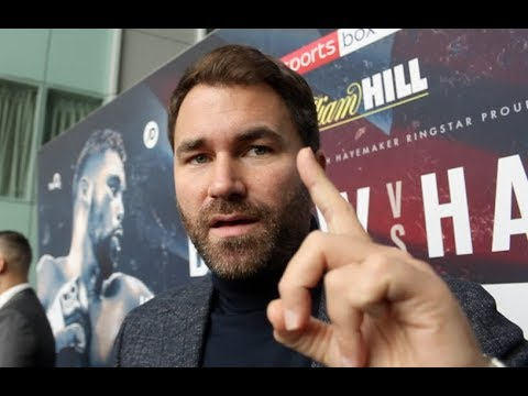 EDDIE HEARN ON BELLEW-HAYE, EUBANK DEFEAT TO GROVES, QUESTIONS TRAINER SITUATION, JOSHUA/MILLER?