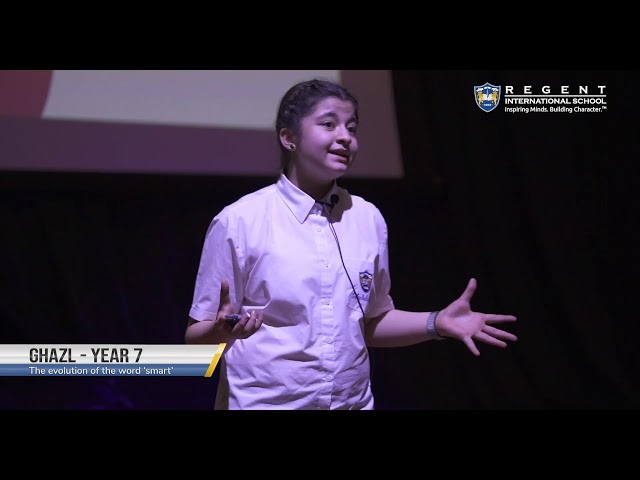 The Evolution of the Word Smart by Ghazl| Year 7 at TEDxSunmarke