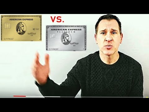 American Express Gold Card Vs. American Express Platinum Card
