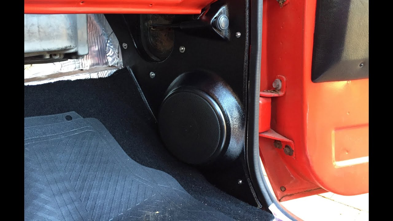 hight resolution of part 1 chevy c10 kick panel speakers install 73 87 squarebody speakers