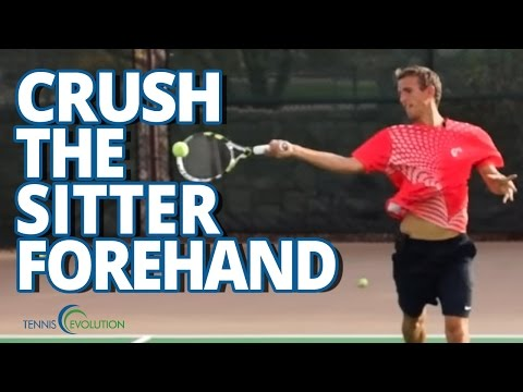TENNIS LESSONS   How To Crush A Sitter Tennis Forehand
