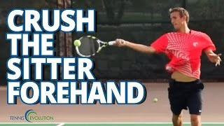 TENNIS LESSONS | How To Crush A Sitter Tennis Forehand