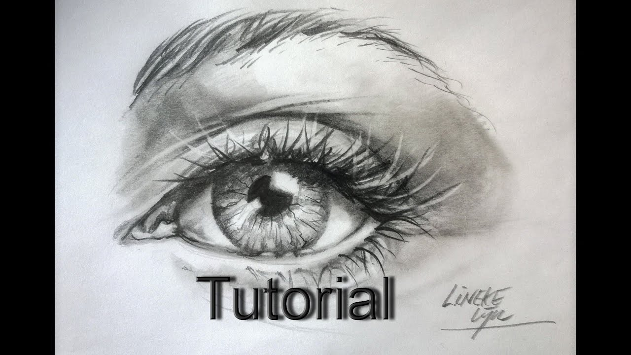 Easy EYE for beginners Graphite pencil drawing - YouTube