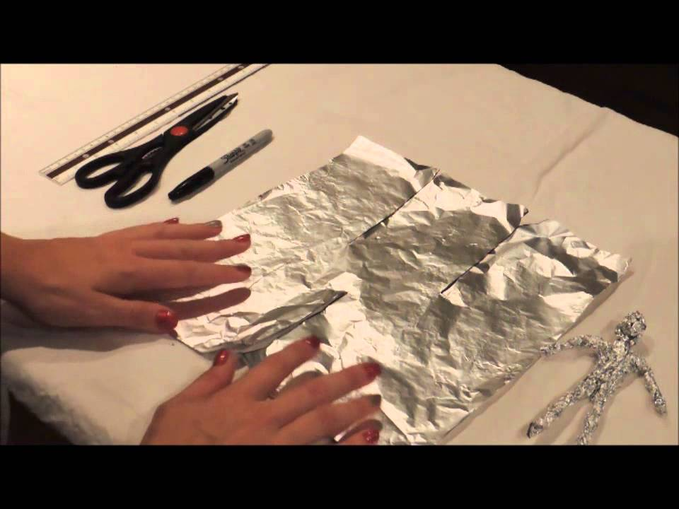 How To Make A Tin Foil Figure Youtube