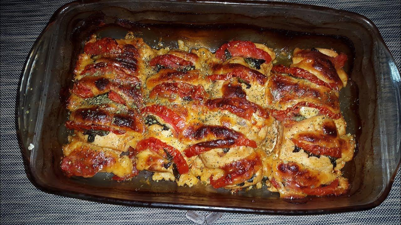 صدور الدجاج بالجبن والخضار من المطبخ الايطالي اكلات سريعة Youtube