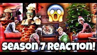 FORTNITE SEASON 7 REACTION AND CHRISTMAS SKINS RETURNING! | VLOGMAS DAY 6!
