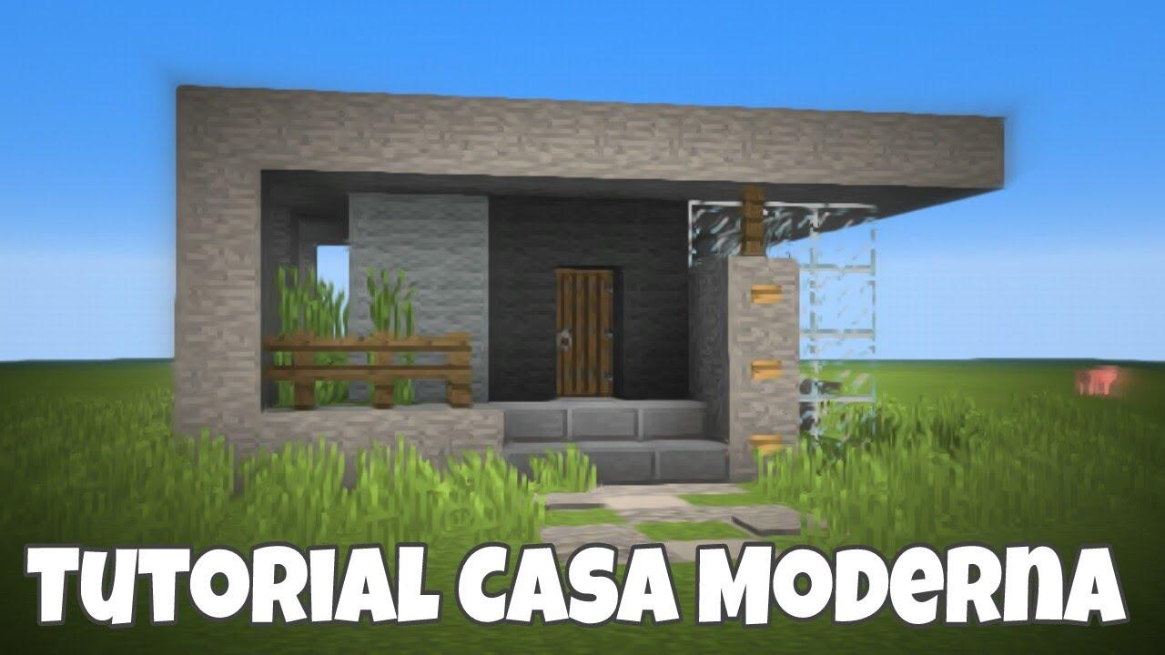 Minecraft pe tutorial casa moderna hecha con piedra como for Casa moderna total white