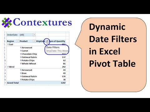 Select Dynamic Date Range In Pivot Table Filter