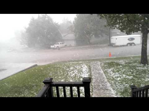 Hail storm in Belle Fourche, SD - 8/8/15