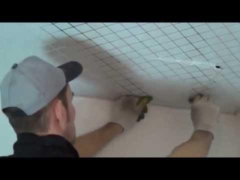 Монтаж подвесного кассетного потолка Caveen