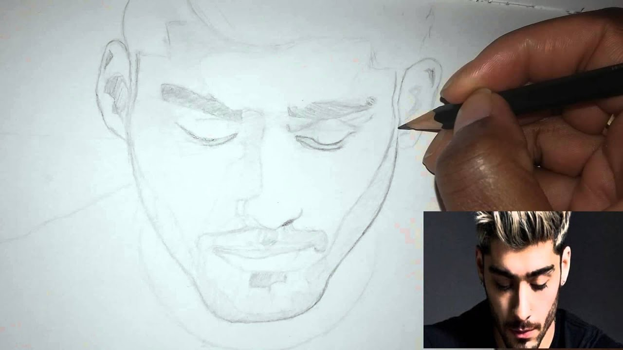 How to draw zayn malik pillow talk speed pencil sketch