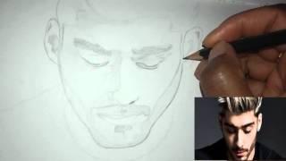How to Draw: Zayn Malik - Pillow Talk (Speed Pencil Sketch)