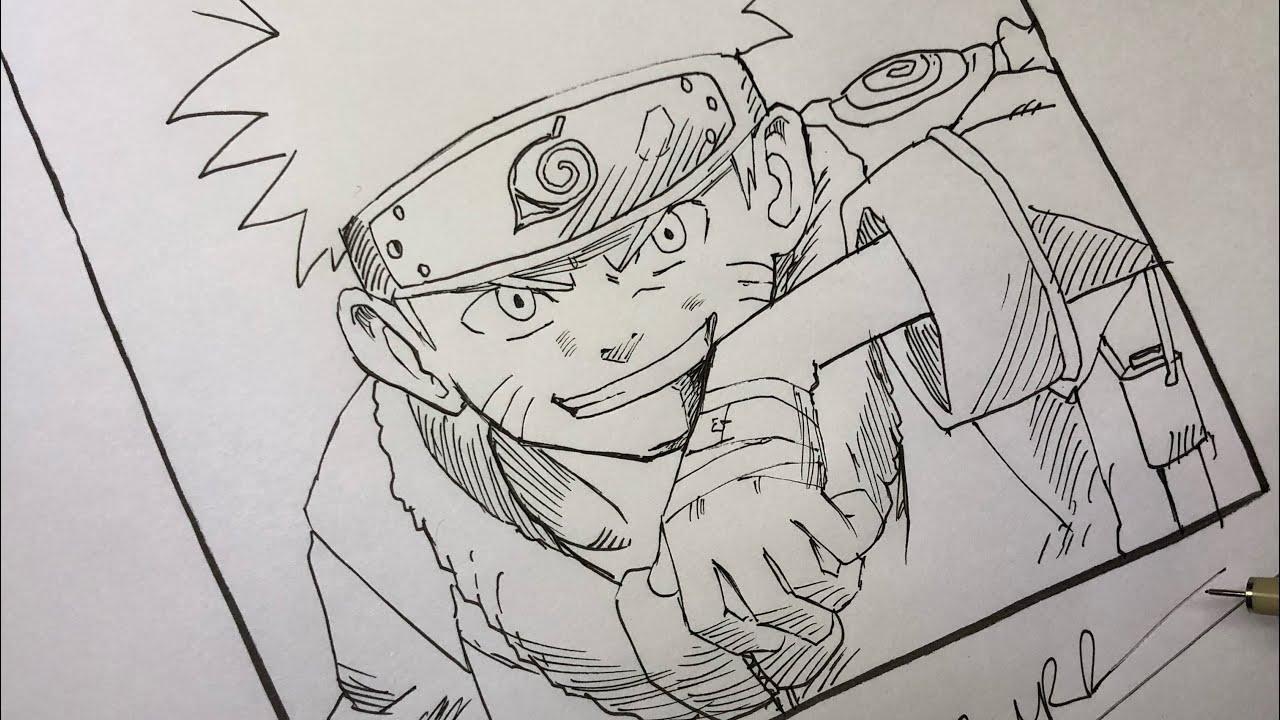 Thử Thách Vẽ Naruto Không Dùng Bút Chì và Tẩy (Drawing Naruto) – P1