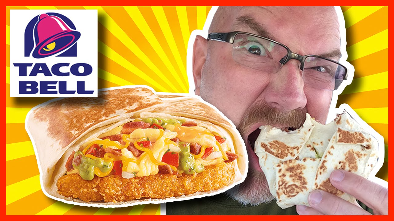Taco Bell Breakfast Review - California A.M. CRUNCHWRAP® with Drive Thru Experience