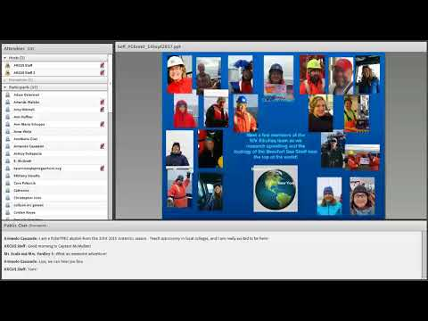 PolarConnect Event: Lisa Seff and the Research Team on the R/V Sikuliaq, 14 Sept 2017