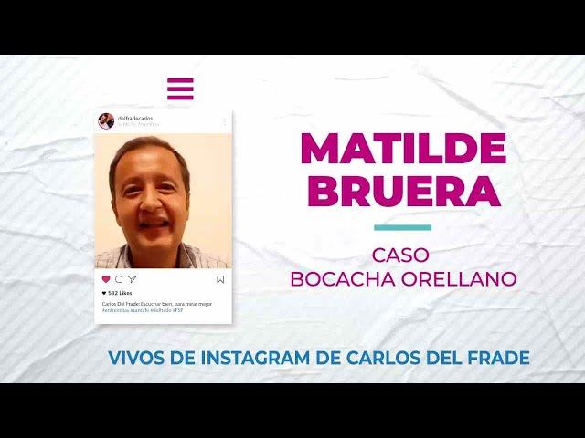 Carlos Del Frade con Matilde Bruera sobre el caso Bocacha Orellano