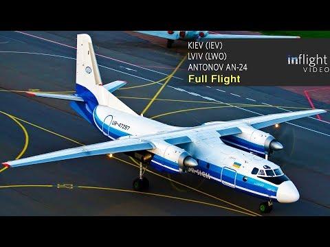 Antonov An-24 Full Flight: Kiev to Lviv - Motor Sich Airlines